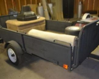 UTILITY TRAILER  $399.00 There is not a title on this trailer a bonded title will have to be applied for.