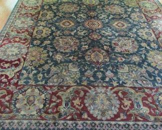 "family room rug Indian 9'9""nxn7'8.5"""
