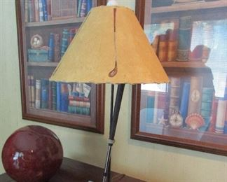 golf lamp and prints