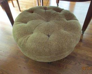 large round foot stool