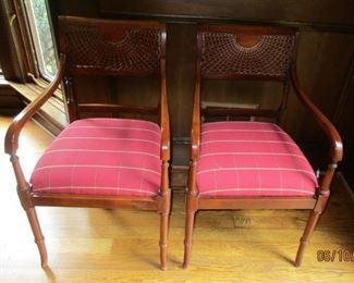 pair  chairs Hekman