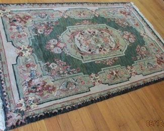 "small upstairs rug  6'1"" x 4'"