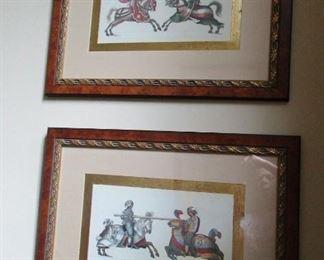 set of 4 knight prints