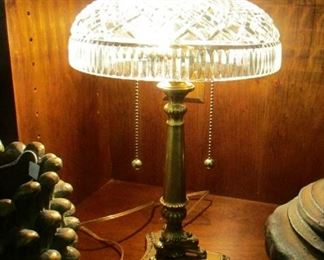 brass lamp waterford shade