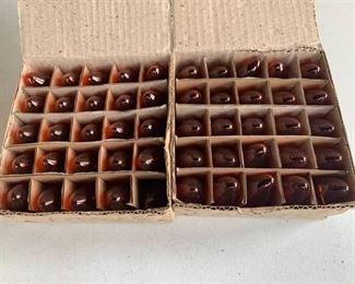2 Boxes of Amber 7 Watt Bulbs (49) Total