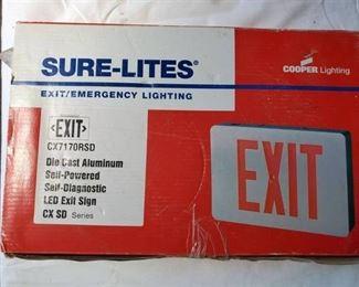 SureLites Exit Light.