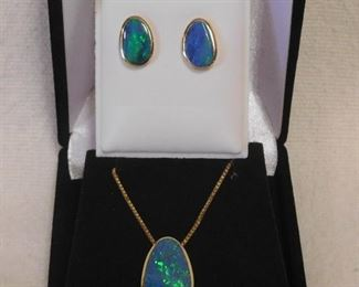 14 k Necklace and Earrings
