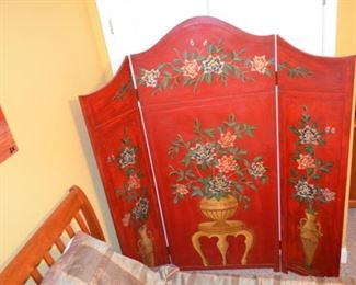 beautiful paint decorated room divider