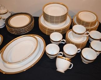 "Noritake ""Kingswood Gold"" fine china, service for 8"