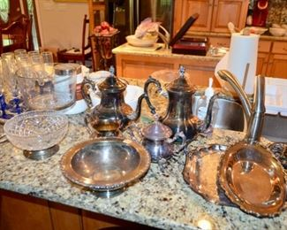 silver-plate serving pieces