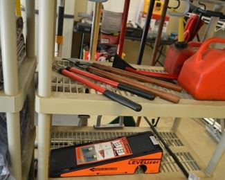 trimmers; gas cans; ladder Levelizer
