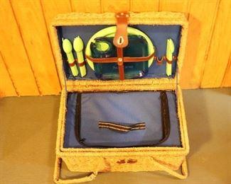 inside picnic basket