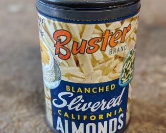 Buster Almonds Vintage Advertising Tin