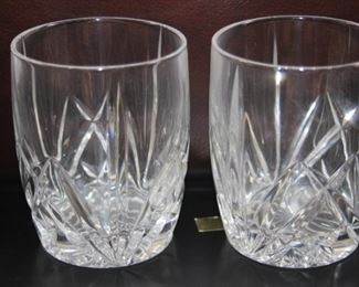 $40 pair. Two Waterford whiskey glasses.
