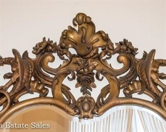 Exceptional Carved Dragon Mirror