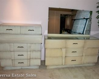 BUY IT NOW - Mid Century Bedroom Set, Dresser and Chest of Drawers - Perfect for Painted / Repurposed Furniture
