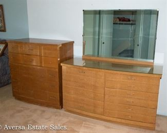 Mid Century Bedroom Set, Dresser and Chest of Drawers - Perfect for Painted / Repurposed Furniture