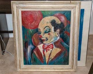 CREEPY Clown Painting!