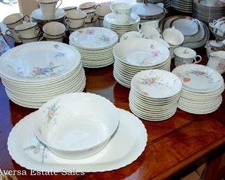 """Mikasa Bone China Dining Set - """"Something Blue"""""""