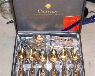 Cloisonne Spoon Set