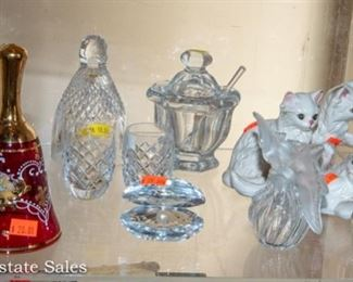 Collectibles - Crystal - Lalique Perfume Bottles, Sterling Candles