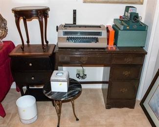 IBM Electric Typewriter - Vintage Slide Projector - Small Desk - Accent Tables