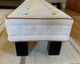 """Alternate view - Wittmann bench from Manifesto of Chicago. MEASUREMENTS:  15""""H x 72""""L x 19 1/2""""W.   $650."""