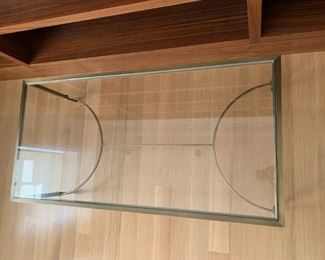 """Baker bronze and glass coffee table.  MEASUREMENTS:  17""""H x 48""""L x 24""""D.   $350"""