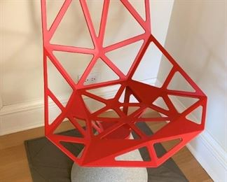 """Magis Chair One with concrete base by Konstantin Grcic - mat included.  MEASUREMENTS:  32""""H x 22""""W x 23""""D.  Rug included 26"""" x 26"""".   $475"""