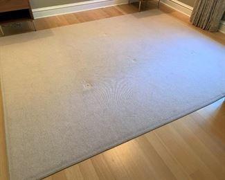 Neutral wool area rug.  MEASUREMENTS:  10' x 8'.  $125