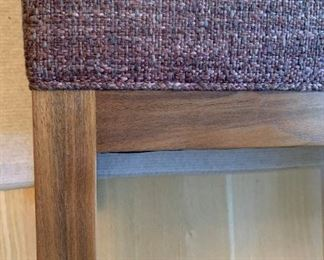 """Alternate view - Custom made bench by Mark Roe of The Furniture Shop.  MEASUREMENTS:  18""""H x 35 1/2""""L x 17 1/2""""D.   $375"""