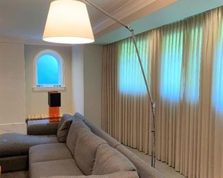 Artemide Tolomeo floor lamp.  MEASUREMENTS:  Fully extended approximately 9 1/2' tall.   $675