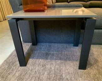 """Alternate view - Room and Board end table with quartz top.  MEASUREMENTS:  24""""H x 30""""L x 20""""W.   $275"""