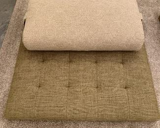 """Pair of custom made meditation mats with pillows.  MEASUREMENTS:  Mats measures 30"""" x 30"""".   Pair $400 Separately $250 Ea."""