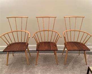 """De La Espada Kimble Windsor Chairs MEASUREMENTS:  42 1/2""""H x 26""""W x 26 1/2""""D.   $800 Ea. or $2,000 for the three."""