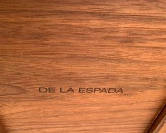 """Alternate view - De La Espada solid wood box.  MEASUREMENTS:  8""""H x 15 1/2""""L x 8""""W.   $75"""
