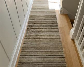 """Extra long wool striped runner.  MEASUREMENTS:  21 1/2' L x 29"""" W.    $250"""