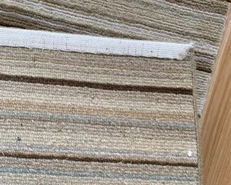 """Alternate view - Extra long wool striped runner.  MEASUREMENTS:  21 1/2' L x 29"""" W.    $250"""