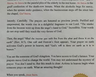 "Alternate view - Framed God Listens verse.  MEASUREMENTS:  17""H x 14 1/2""W.   $25"