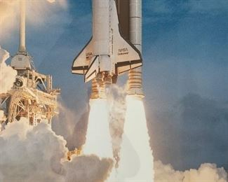 """Alternate view - Space Shuttle framed print.  MEASUREMENTS:  24"""" x 24"""".  $20"""