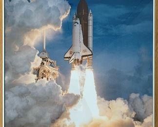 "Space Shuttle framed print.  MEASUREMENTS:  24"" x 24"".  $20"