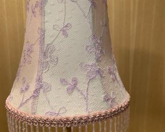 "Alternate view - Small boudoir lamp.  MEASUREMENTS:  17""H.   $25"