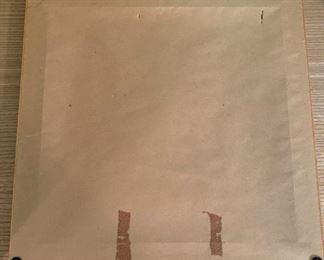 "Alternate view - Framed textile heart .  MEASUREMENTS:  14 1/2"" x 14 1/2"".   $20"