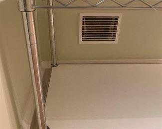"""Alternate view - Utility shelving unit.  MEASUREMENTS:  23 1/2""""H x 47 1/2""""L x 18""""D.   $35"""