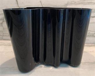 "Alvar Aalto Ittala vase.  MEASUREMENTS:  6 1/4""H x 8""W.   $75"