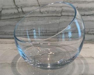 "Glass bowl.  MEASUREMENTS:  6 1/2""H.  $15"