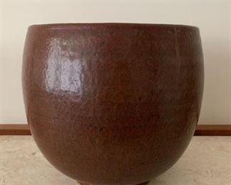 "Art pottery.  MEASUREMENTS:  8""H x 8 3/4""W.    $35"
