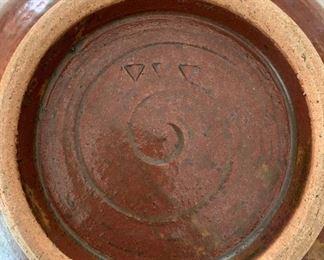 "Alternate view - Art pottery.  MEASUREMENTS:  8""H x 8 3/4""W.  $35"