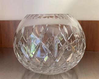 "Rogaska Crystal rose bowl.  MEASUREMENTS:  4 3/4""H x 6""W.  $15"