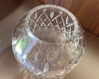 "Alternate view - Rogaska Crystal rose bowl.  MEASUREMENTS:  4 3/4""H x 6""W.  $15"